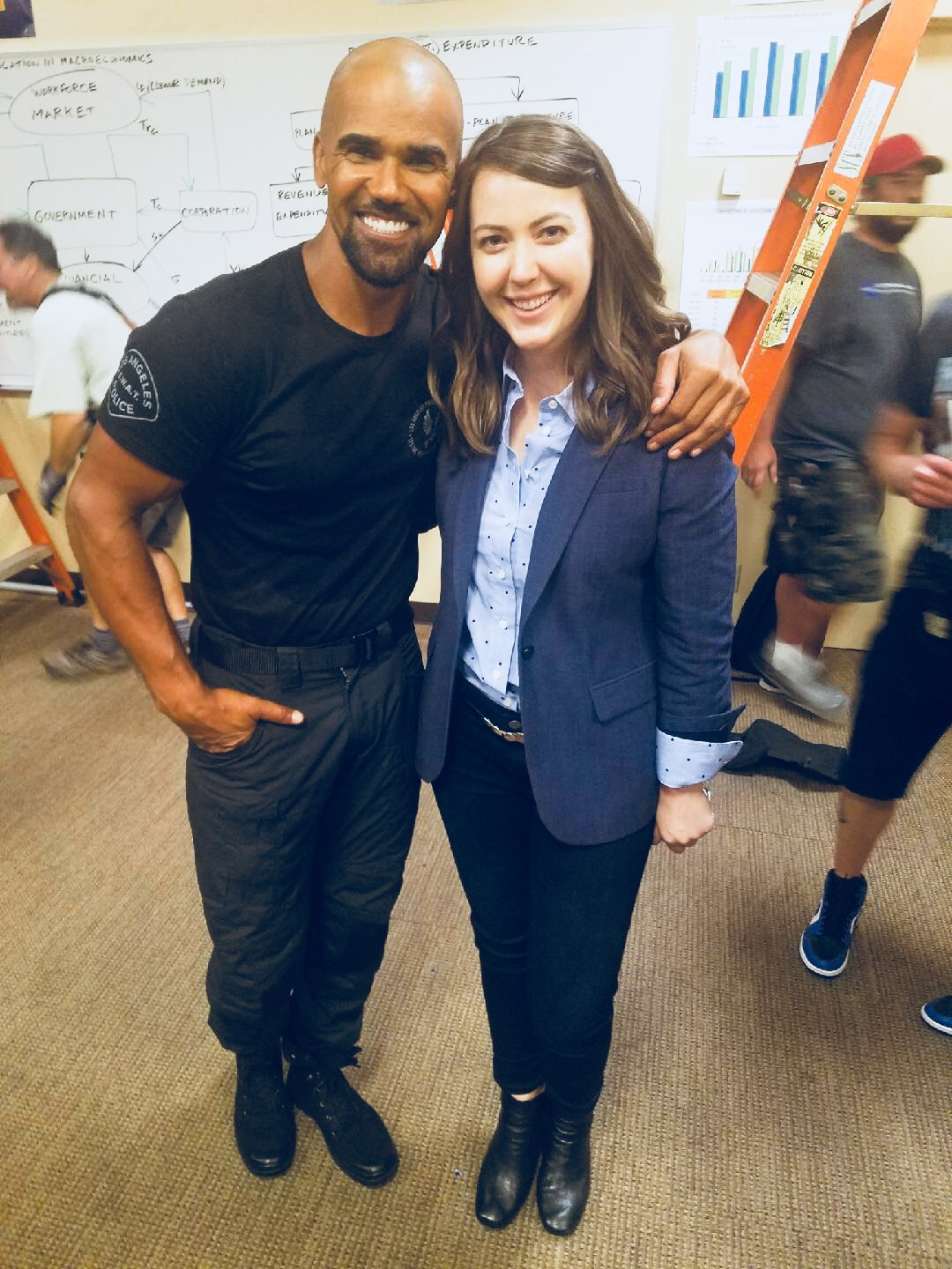 On Set shooting S.W.A.T. Episode 104 - Shemar Moore & Erin Barnes