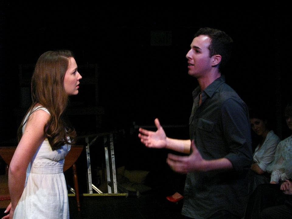 """The Cherry Orchard"" at The Antaeus Company - Jeff Masters & Erin Barnes, photo by Geoffrey Wade"