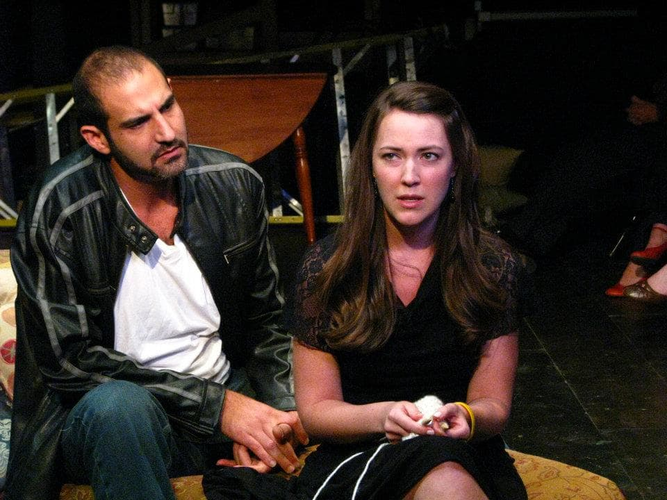 """The Bear"" at The Antaeus Company - Brian Abraham & Erin Barnes, photo by Geoffrey Wade"