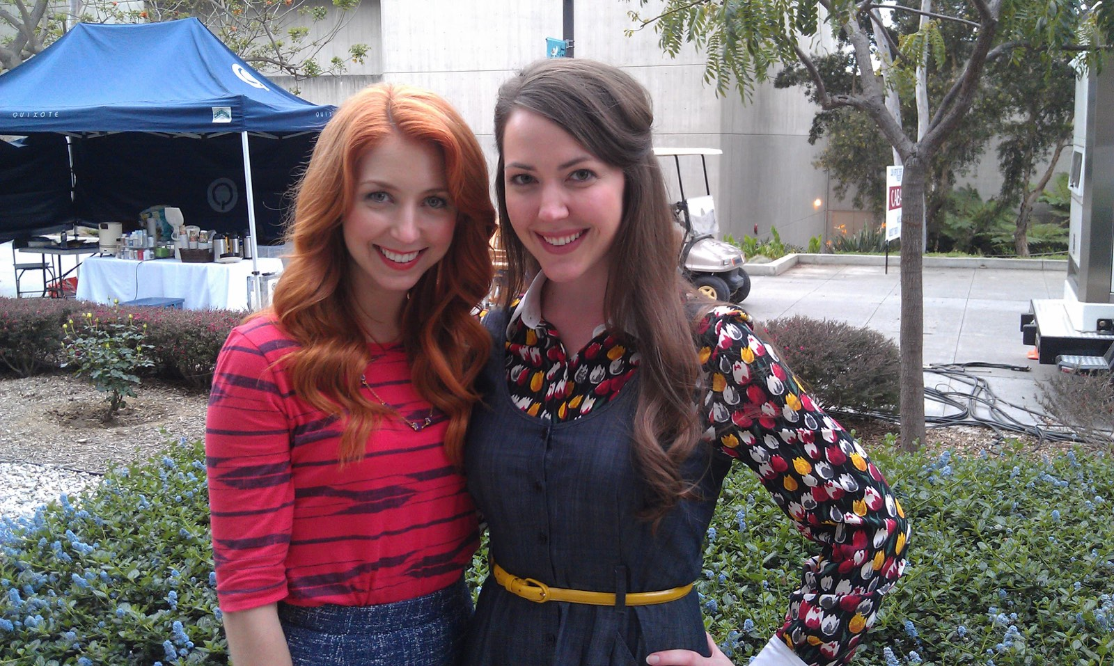 On Set Shooting Wendy's Mistaken Salad Commercial - Morgan Smith-Goodwin & Erin Barnes